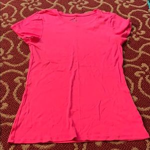 Old Navy Solid pink short sleeve shirt